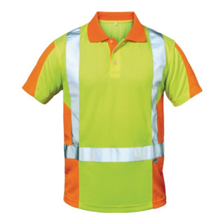 Warnschutz-Poloshirt Zwolle Gr. XXL gelb/orange 75% PES/25% CO Feldtmann