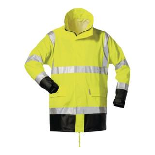 Warnschutz PU Regenjacke Manfred Gr.M gelb/schwarz