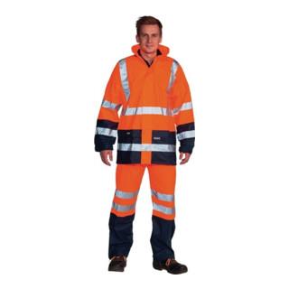 Ocean Warnschutz-Regenhose Comfort Stretch high-vis orange/marine