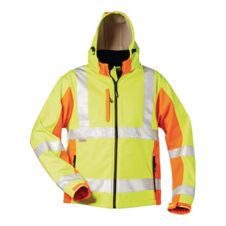 Warnschutz-Softshelljacke Adam Gr. XL gelb/orange 100% PES
