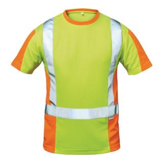 Warnschutz T-Shirt Utrecht Gr. L gelb/orange 75% PES/25 CO Feldtmann