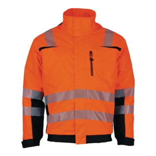 Warnschutzpilotenjacke Prevent® Trendline  orange/schwarz schwarz