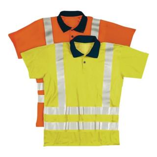 Warnschutzpoloshirt Gr. S gelb 80% PES/20% CO
