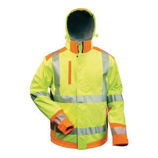 Warnschutzsoftshelljacke Rickmer Gr. L gelb/orange 100% PES Feldtmann