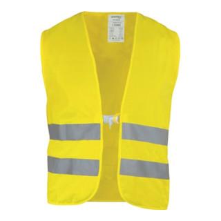 Warnschutzweste gelb EN20471 Kl.2 m.Reflexstreifen a.PES