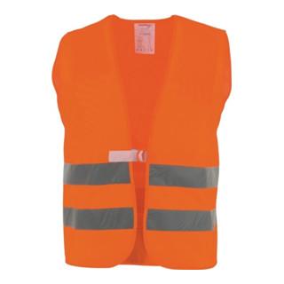 Warnschutzweste orange EN20471 Kl.2 m.Reflexstreifen a.PES