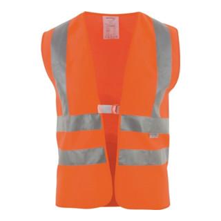 Warnweste Gr.univ.orange m.Schulterreflexstreifen EN 20471 Kl.2 ASATEX uni