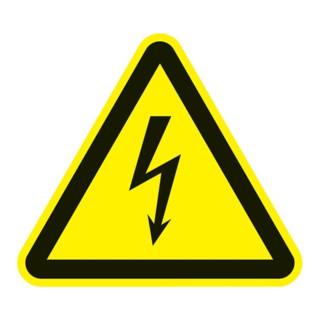 Warnzeichen ASR A1.3/DIN EN ISO 7010 200mm Warnung v.elektrischer Spannung Folie