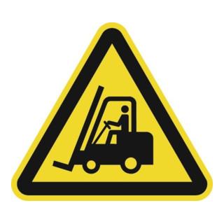 Warnzeichen ASR A1.3/DIN EN ISO 7010 200mm Warnung vor Flurförderzeugen Folie
