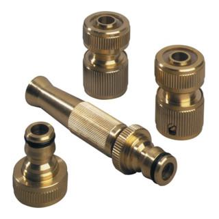 Wasserschlaucharmaturen Set 1/2Zoll Hahnanschluss REHAU m.Schlauchstück