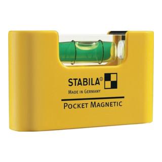 Wasserwaage Mini a. Kunststoff Pocket Magnetic 6,8cm