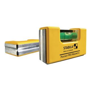 Wasserwaage Mini a. Kunststoff Pocket Pro magnetic incl. Clip 7,2cm