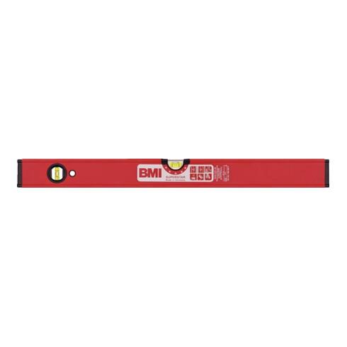 Wasserwaage SUPERSTAR 180cm Alu.rot ± 0,5 mm/m m.Magnet BMI