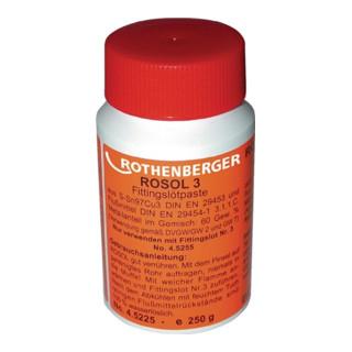 Weichlötpaste ROSOL 3 DIN EN 29453 S-SN97 Cu 3 Plastikflasche 250g