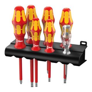 Wera 160 i/165 i Rack Schraubendrehersatz Kraftform Plus 100 inkl. Spannungsprüfer und Rack