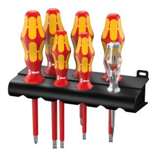 Wera 160 i Rack VDE-Schraubendrehersatz Kraftform Plus 100 inkl. Spannungsprüfer und Rack