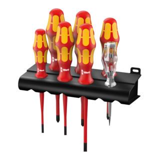 Wera 160 iS Rack + Schraubendrehersatz Kraftform 7-teilig