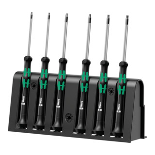 Wera 2067/6 Elektroniker TORX® BO-Schraubendrehersatz + Rack, 6-teilig