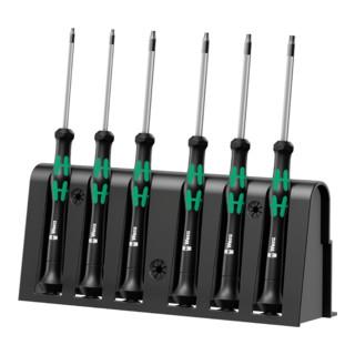 Wera 2067 Elektroniker TORX® BO-Schraubendrehersatz inkl. Rack 6-teilig