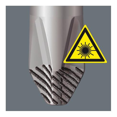 Wera 334/6 Rack Schraubendrehersatz Kraftform Plus Lasertip + Rack, 6-teilig