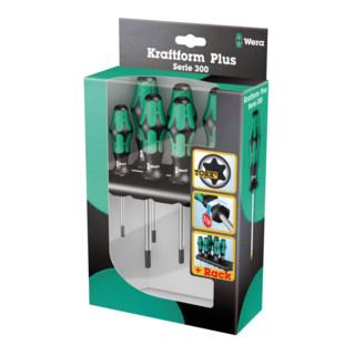 Wera 367/6 Schraubendrehersatz Kraftform Plus TORX® + Rack