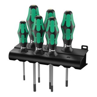 Wera 367/6 TORX® BO Kraftform Plus TORX® BO-Schraubendrehersatz + Rack