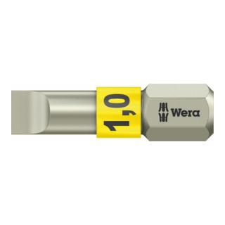 Wera 3800/1 TS Bits für Schlitz-Schrauben, Edelstahl, 5,5 x 0,8 mm, Länge 25 mm