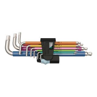 Wera 3950/9 Hex-Plus Multicolour Stainless 1 Winkelschlüsselsatz, metrisch, Edelstahl, 9-teilig