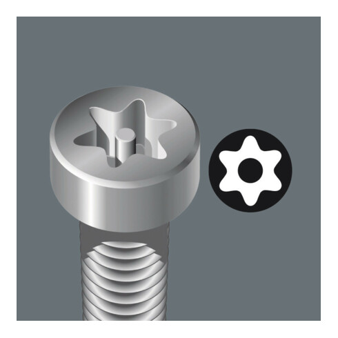 Wera 867/4 Z TORX® BO Bits mit Bohrung,TX 8, Länge 89 mm