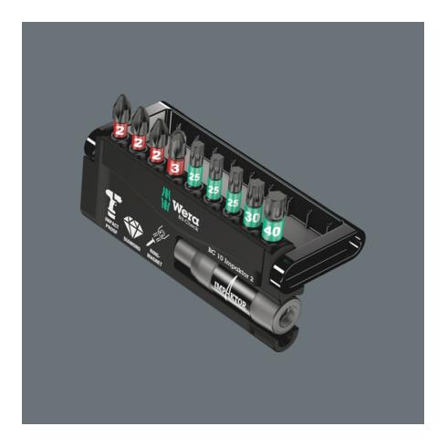 Wera 8751/67-9/IMP DC Impaktor Bit-Check, 1 Impaktor-Halter mit 9 Impaktor-Bits