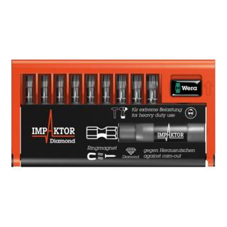 Wera 8767-9/IMP DC Impaktor Bit-Check, 1 Impaktor-Halter mit 9 Impaktor-Bits
