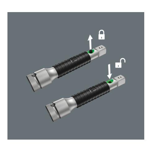"""Wera 8796 LB Zyklop-Verlängerung """"flexible-lock"""" mit Schnelldrehhülse, lang, 3/8"""", 3/8"""" x 200 mm"""