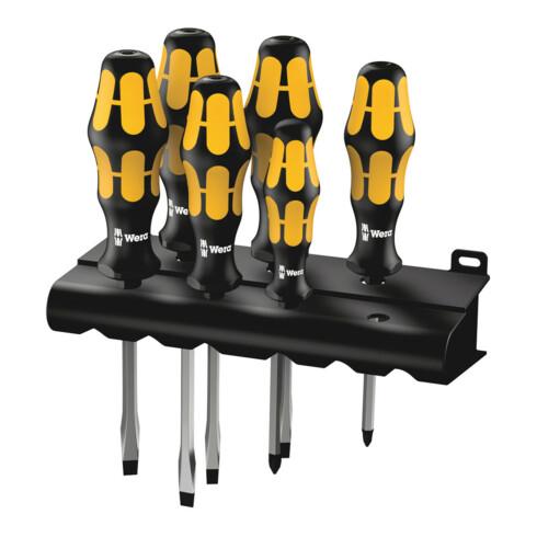 Wera 932 S/6 Schraubendrehersatz Kraftform Wera: Der Schraubmeißel + Rack, 6-teilig