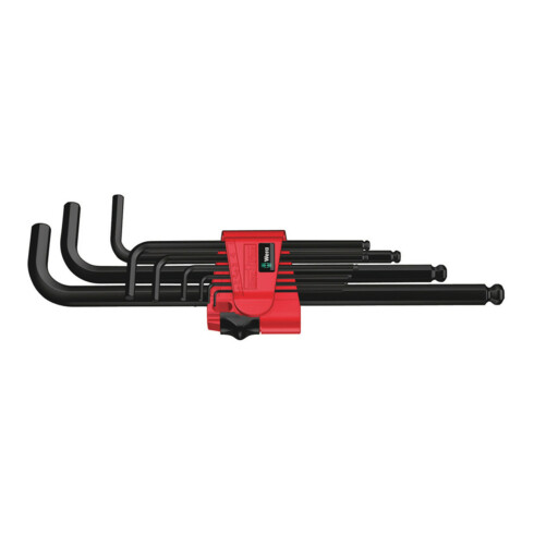 Wera 950 PKL/9 BM N Winkelschlüsselsatz, metrisch, BlackLaser
