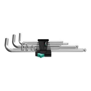 Wera 950 PKL/9 SM N Winkelschlüsselsatz, metrisch, gestellverchromt