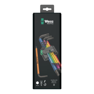 Wera 950 SPKL/9 SM N Multicolour Winkelschlüsselsatz, metrisch, BlackLaser