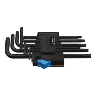 Wera 967 L/9 TORX® HF Winkelschlüsselsatz mit Haltefunktion, BlackLaser