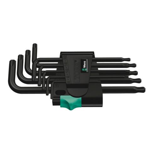 Wera 967 PKL/9 TORX® Winkelschlüsselsatz, 9-teilig, BlackLaser