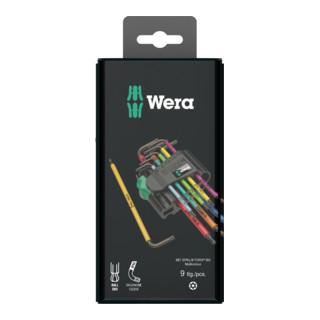 Wera 967 SPKL/9 TORX® BO Multicolour Winkelschlüsselsatz, BlackLaser