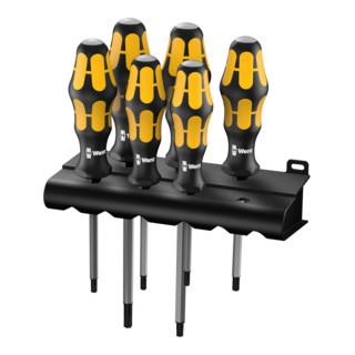 Wera 977/6 TORX® Schraubendrehersatz Kraftform (Wera: Der Schraubmeißel + Rack)