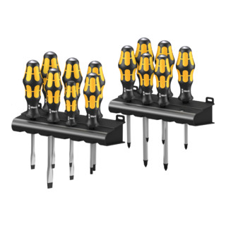 Wera Big Pack 900 Schraubendrehersatz Kraftform Wera: Der Schraubmeißel + Rack, 13-teilig