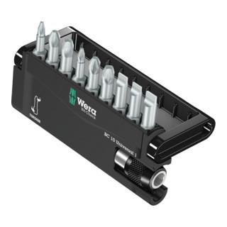 Wera Bit-Sortiment 8100-9/TZ Bit-Check, 1 Universalhalter mit 9 Torsions-Bits