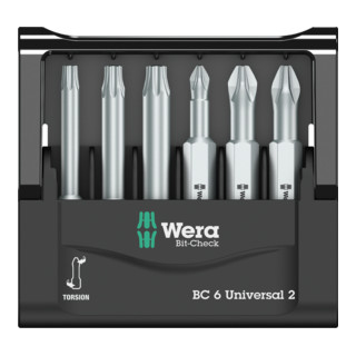 Wera Bit-Sortiment, Mini-Check Phillips, Pozidriv, TORX®, 50 mm