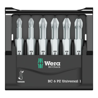 Wera Bit-Sortiment, Mini-Check PZ, 50 mm