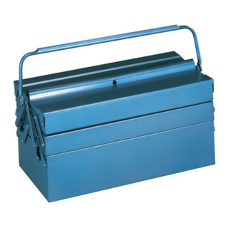 Werkzeugkasten blau 530x200x250mm Tragegriff umlegbar abschließbar