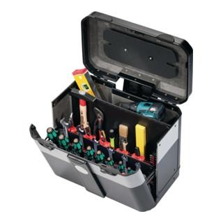 Werkzeugkoffer 450x260x385mm rollbar m. CP-7 Werkzeughaltern Klappversion