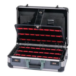 Werkzeugkoffer Alu, 460x340x165mm, 2 Werkzeugtafeln abschließbar