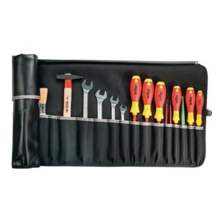 Werkzeugrolltasche 12 Fächer B540xH330mm Industrieleder schwarz PARAT