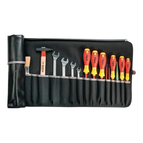 Werkzeugrolltasche 15 Fächer B670xH330mm Industrieleder schwarz PARAT