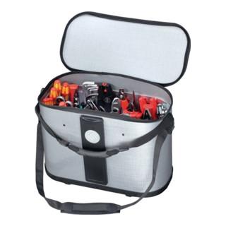 Werkzeugtasche B.500xT.255xH.360mm m.herausnehmb. Mittelw.2xCP-7Halter D.11+26mm